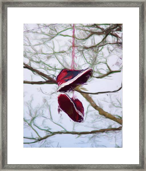 Framed Print featuring the digital art Shoefiti 2327dp by Brian Gryphon