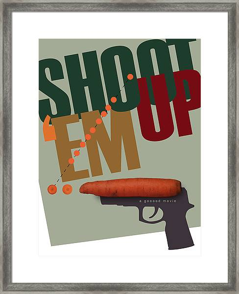 Shoot 'em Up Movie Poster Framed Print