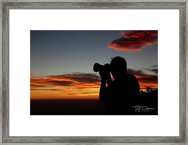 Shoot The Burning Sky Framed Print