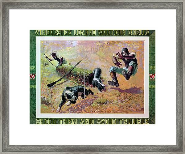 Shoot Them And Avoid Trouble Framed Print
