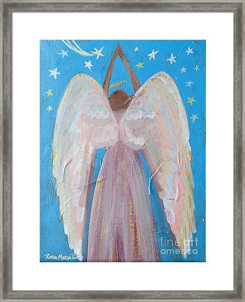 Shooting Star Angel Framed Print