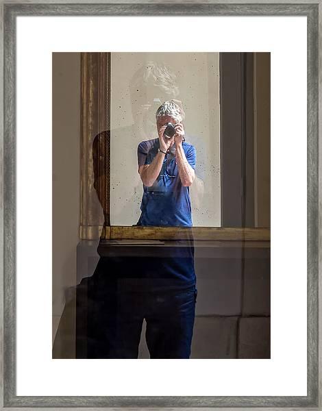 Shooting The Photographer Framed Print
