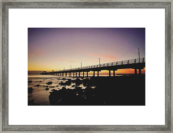 Shorncliffe Pier At Dawn Framed Print