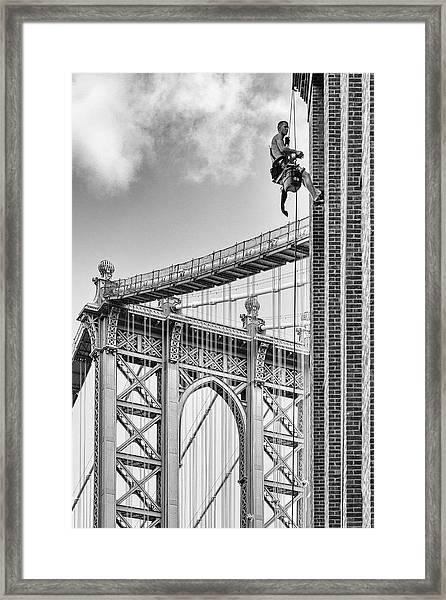 Shortcut To Brooklyn Framed Print by Michel Guyot
