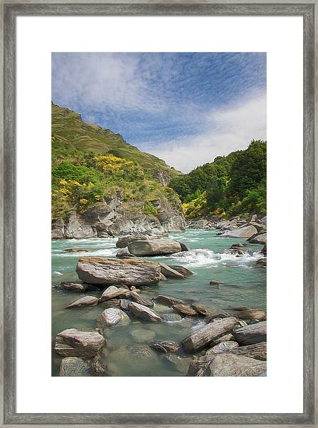 Shotover River Rapids New Zealand II Framed Print