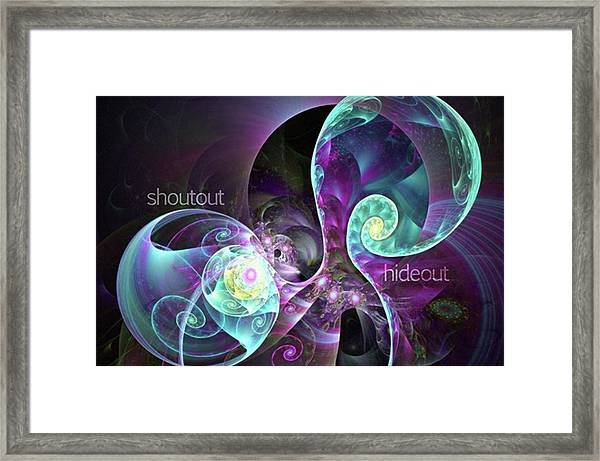 Shoutout Hideout - Digital Abstract Framed Print by Michal Dunaj
