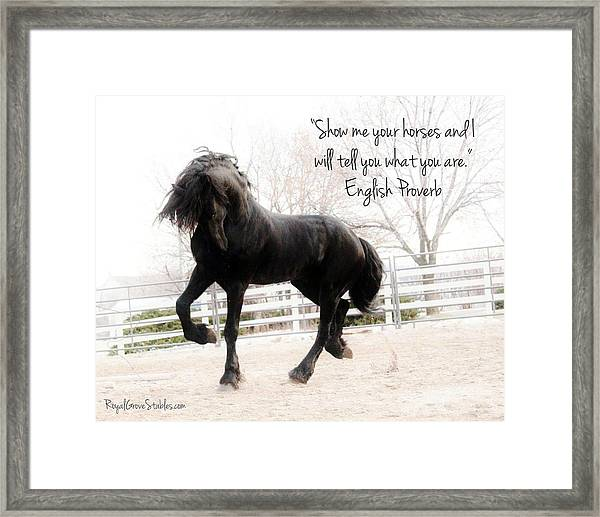 Show Me Your Horse Framed Print