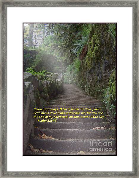 Show Me Your Ways, O Lord Framed Print