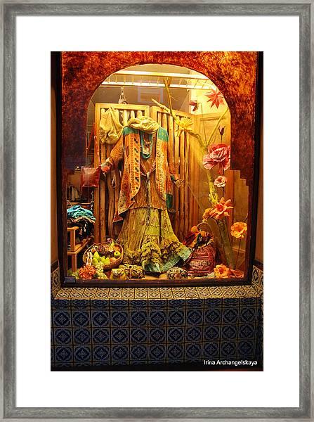 Show Window Framed Print