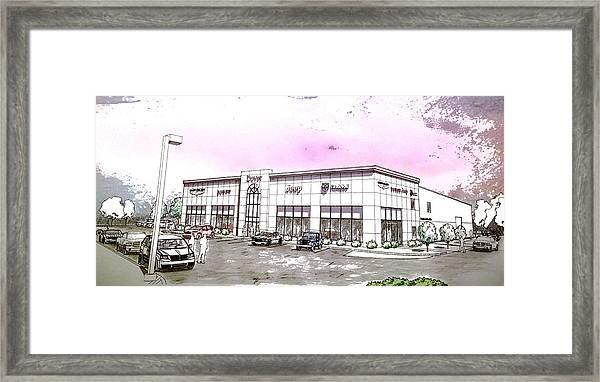 Showroom Rendering Framed Print