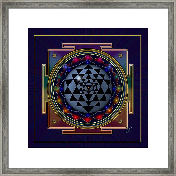Shri Yantra Framed Print