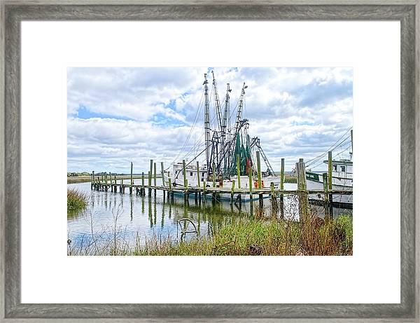 Shrimp Boats Of St. Helena Island Framed Print