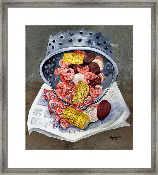 Shrimp Boil Framed Print