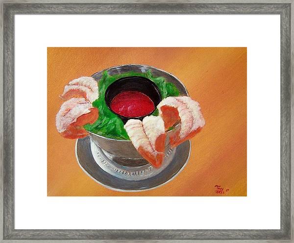 Shrimp Cocktail Framed Print