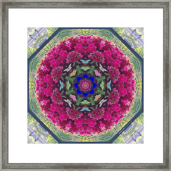 Framed Print featuring the digital art Shrubbery 2921 by Brian Gryphon