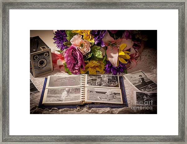 Shur Shot From The Past In Color Framed Print