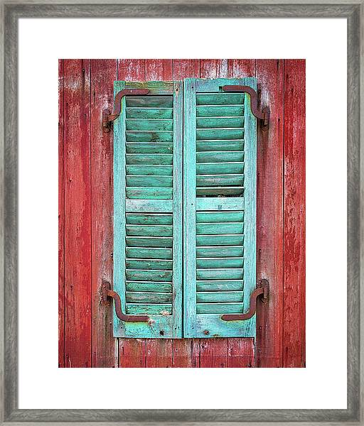 Old Barn Window - Shuttered Framed Print
