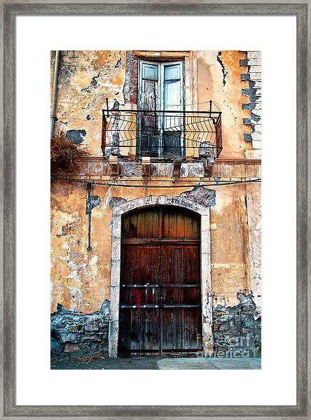 Sicilian Facade Framed Print