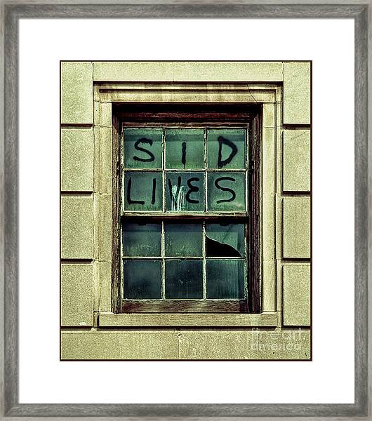 Sid Lives  Framed Print