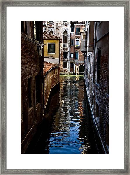 Side Canal Framed Print