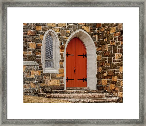 Side Door Framed Print