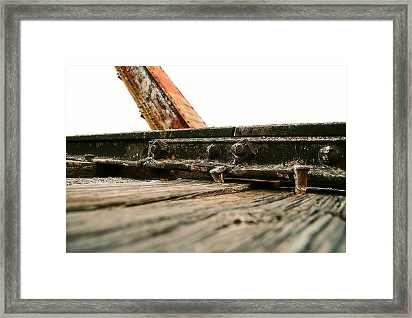 Side Of Rail #photography #trains Framed Print