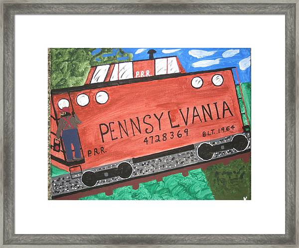 Side Tracked In Pa.  Framed Print by Jeffrey Koss