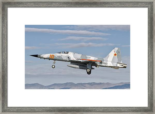 Side View Of A F-5n Freedom Fighter Framed Print