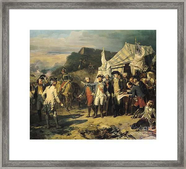 Siege Of Yorktown Framed Print