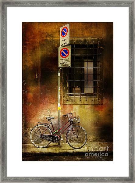 Siena Bicycle Framed Print