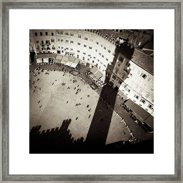 Siena From Above Framed Print