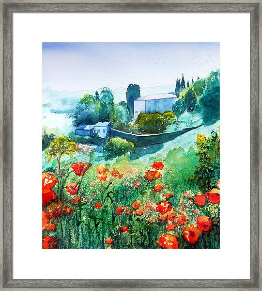 Siena View Framed Print