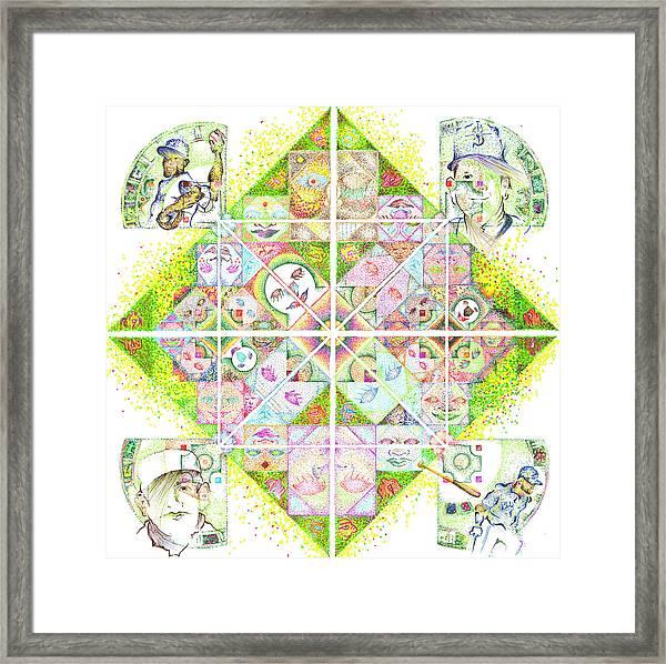 Sierpinski's Baseball Diamond Framed Print
