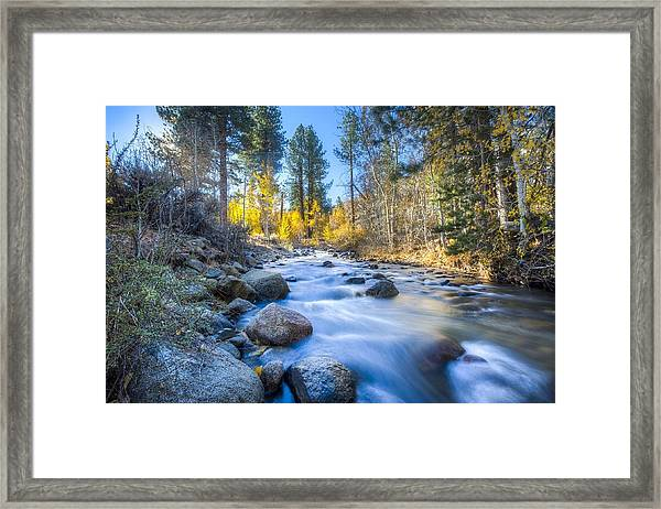 Sierra Mountain Stream Framed Print