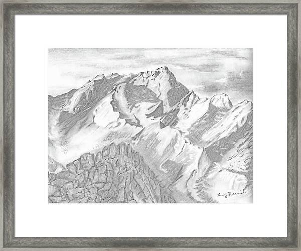 Sierra Mt's Framed Print