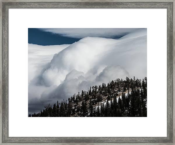 Sierra Stormclouds Framed Print