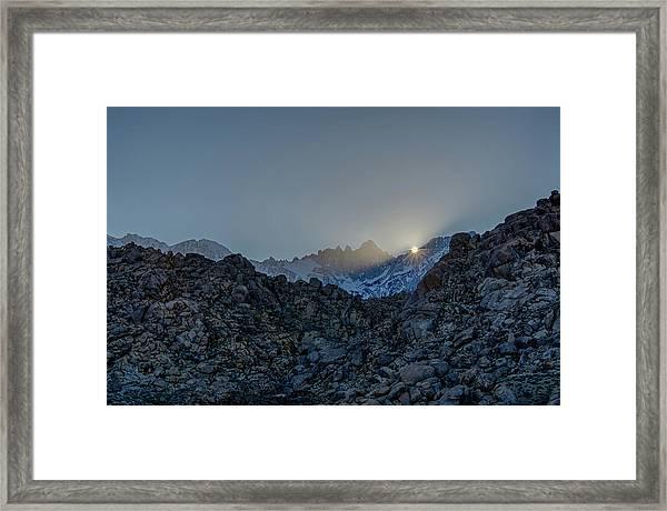 Sierra Sun Burst Framed Print
