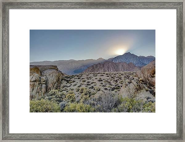 Sierra Sunrays Framed Print