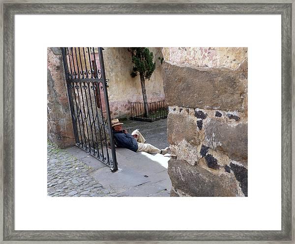Siesta In Patzcuaro Framed Print