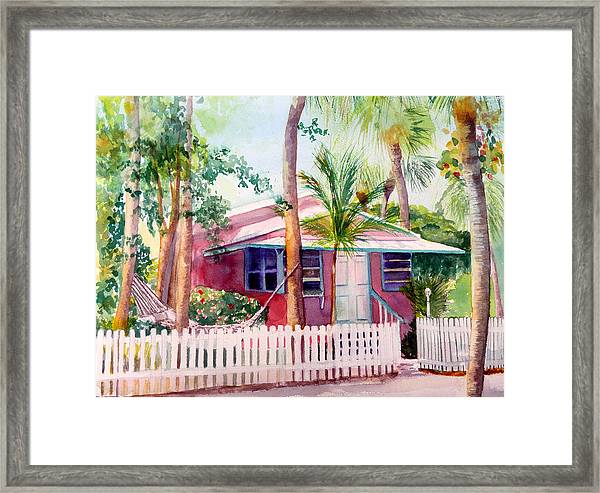 Siesta Key Cottage Framed Print