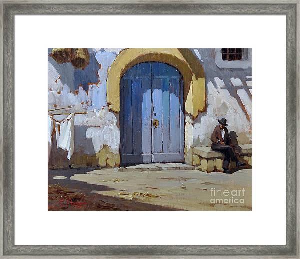Siesta Time In Naples Framed Print