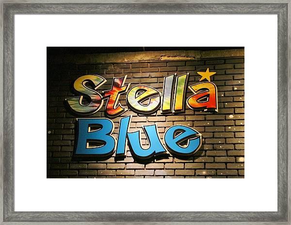 Sign Of Stella Blue Framed Print