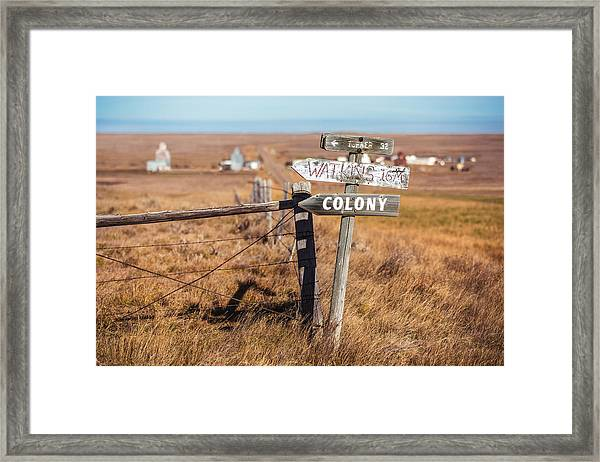 Sign Post Framed Print
