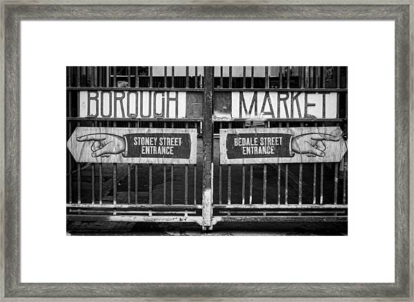Signs Point The Way Framed Print