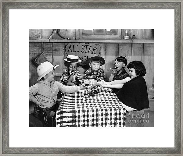 Little Rascals Framed Print