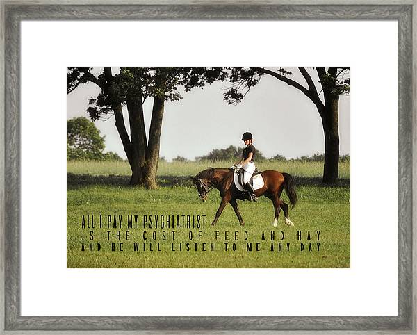 Silent Hoofbeats Quote Framed Print