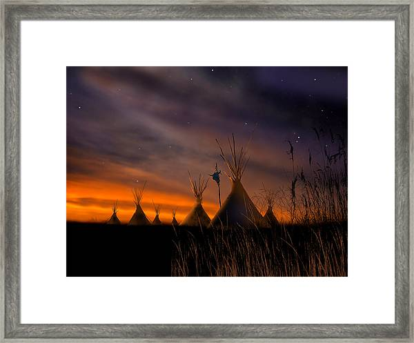 Silent Teepees Framed Print
