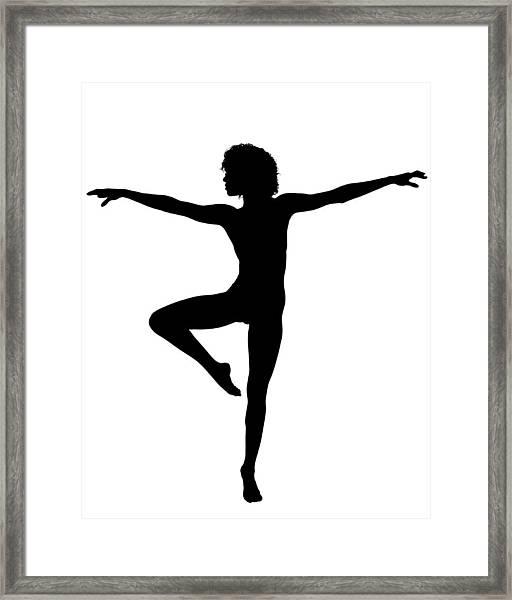Silhouette 24 Framed Print