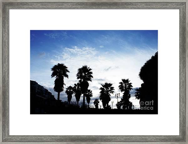 Silhouette In Tropea Framed Print