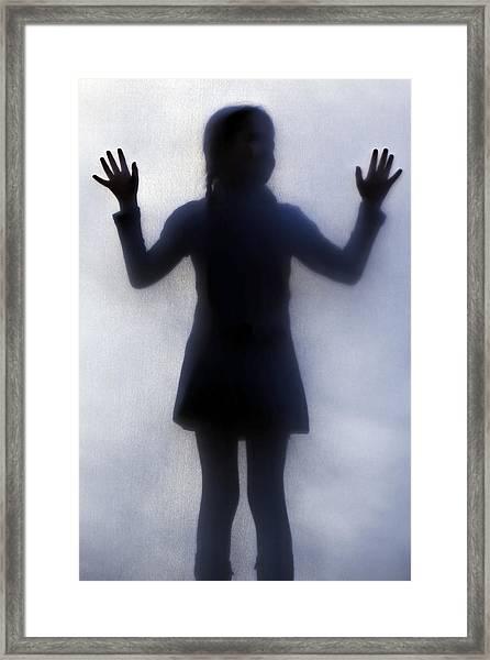 Silhouette Of A Girl Framed Print